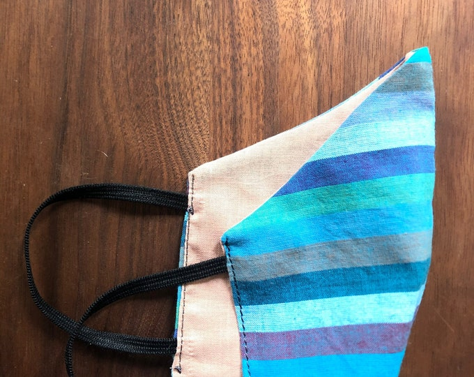 cotton mask in surf stripe