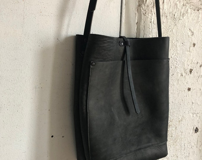slate bucket bag. (reserved)