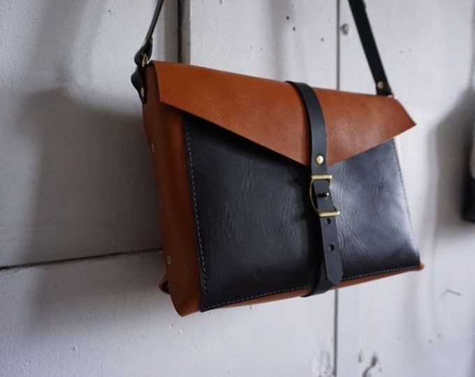 Black and Tan Brooklyn bag