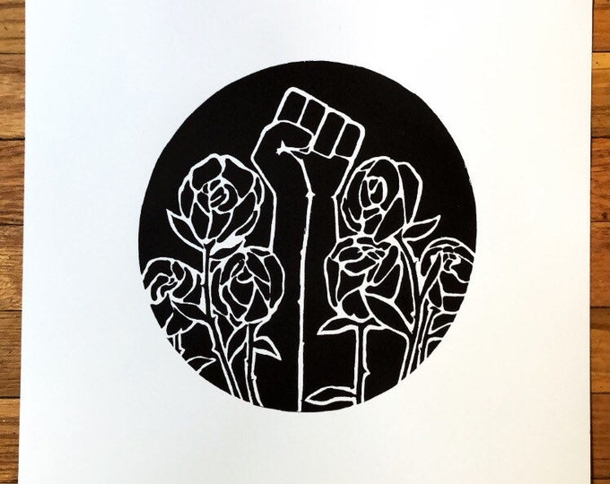 black lives matter rose print