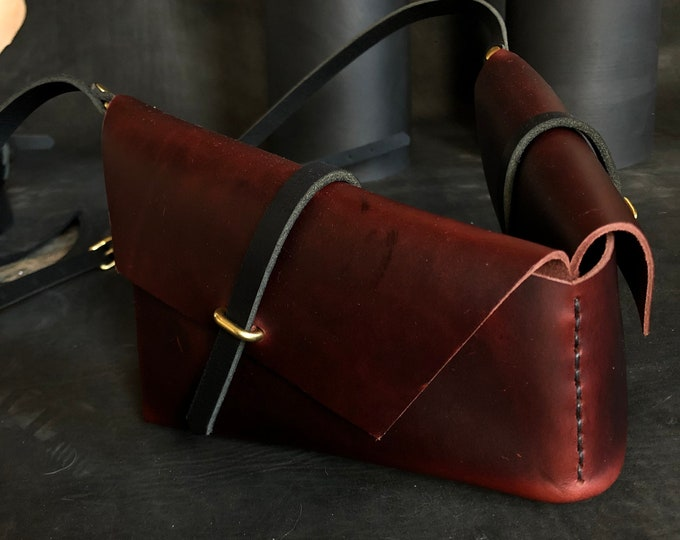 holster bag in oxblood