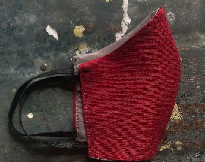 cloth mask in cranberry