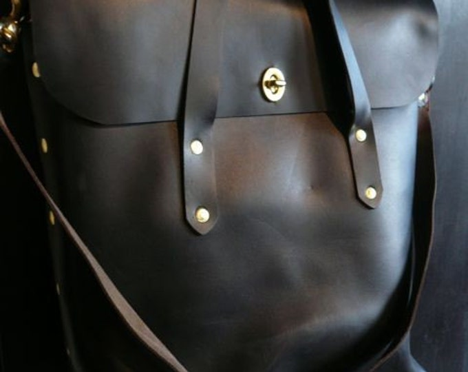 black leather diplomat tote