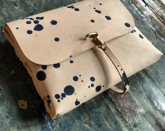 hand dyed poet bag