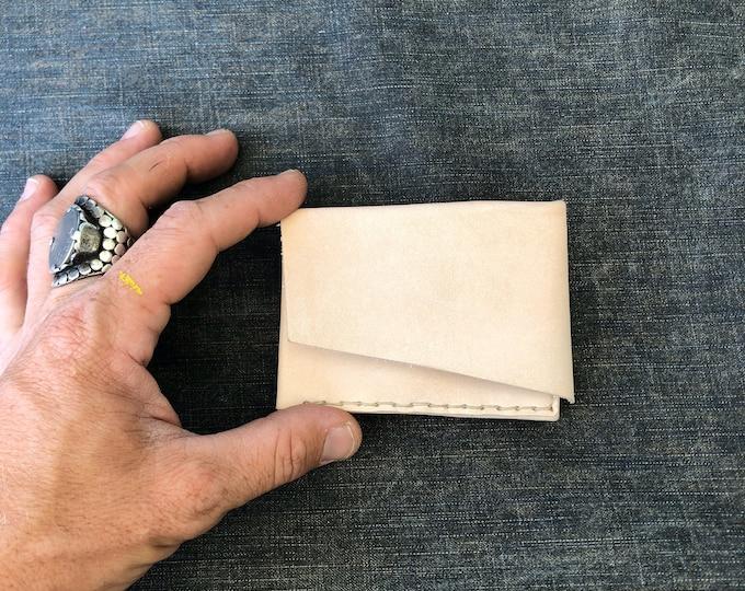 origami billfold in natural veg-tan