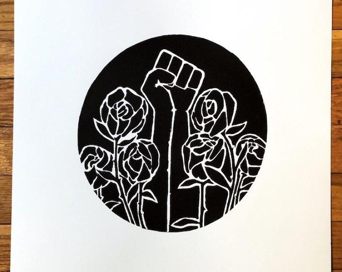 black lives matter rose print