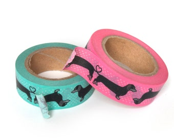 Wiener Dog Washi Tape 2 pack gift set