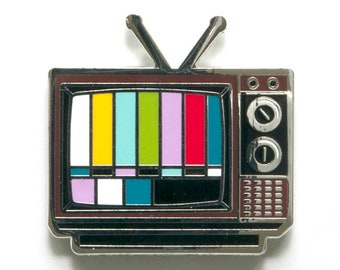 TV Cloisonné enamel lapel pin