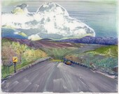 Original Monotype Landscape Art Belinda Del Pesco