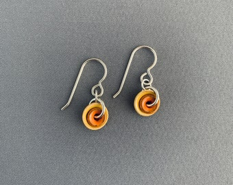 SMaddockdesigns Mini Double Enamel Disk Earrings FREE SHIPPING