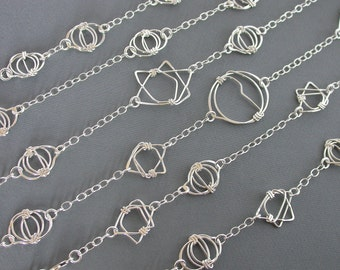 SMaddock Sterling Silver Link with Chain Necklace