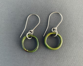 SMaddockdesigns Washer Ring Enamel Disk Earrings FREE SHIPPING