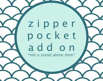 Zipper Pocket Add On For OhSoRetro Billfold Wallet