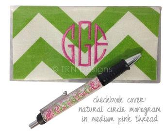 Monogrammed Chevron Checkbook - Preppy Gift - Personalized Checkbook Cover - Purse Accessory - Sorority Checkbook - Purse Organization