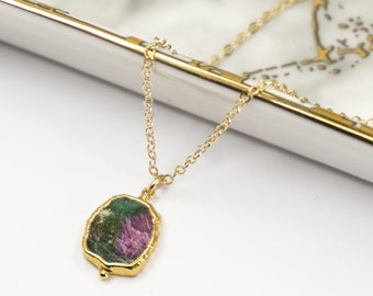 Ruby Zoisite Wizard Necklace