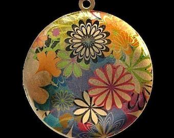 Altered Art PHOTO LOCKET - Spring Flowers - Art Locket