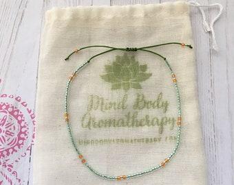 Tiny Seed Bead Bracelet Adjustable