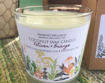 Coconut Wax Candle Vetiver & Orange
