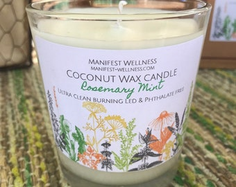 Coconut Wax Candle Rosemery Mint