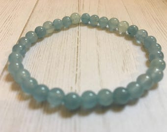 Aquamarine Crystal Mini Natural 4mm Gemstone Bracelet