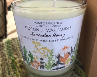 Coconut Wax Candle Lavender & Honey
