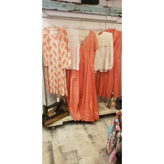 Vintage dress lot, montgomery ward, lace, satin go
