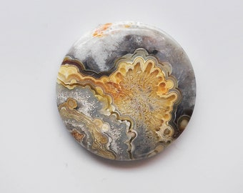 Mexican Crazy Lace Agate cabochon  35x5mm