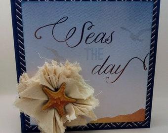 Handcrafted Nautical Theme Mini Album - Seas the Day