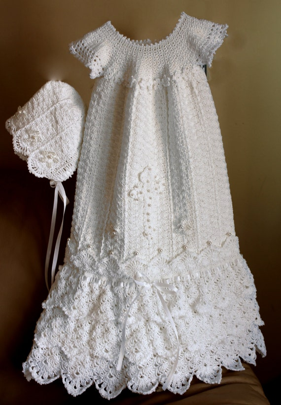 Crochet Christening Gown Pattern Crochet Baptism Gown Pattern Etsy