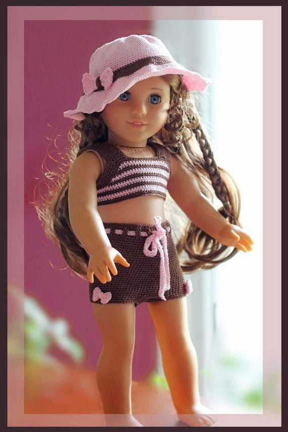 Sugar Bows Tankini And Sunhat Crochet Pattern For 18 Inch Dolls And American Girl Doll