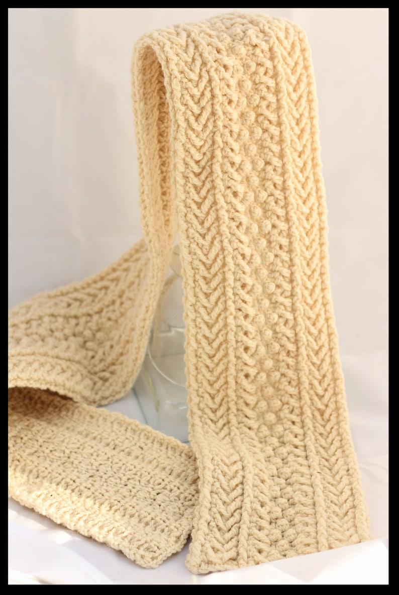 ed1a12d3296 Crochet Cable Scarf Patterns Crochet Men s Scarf