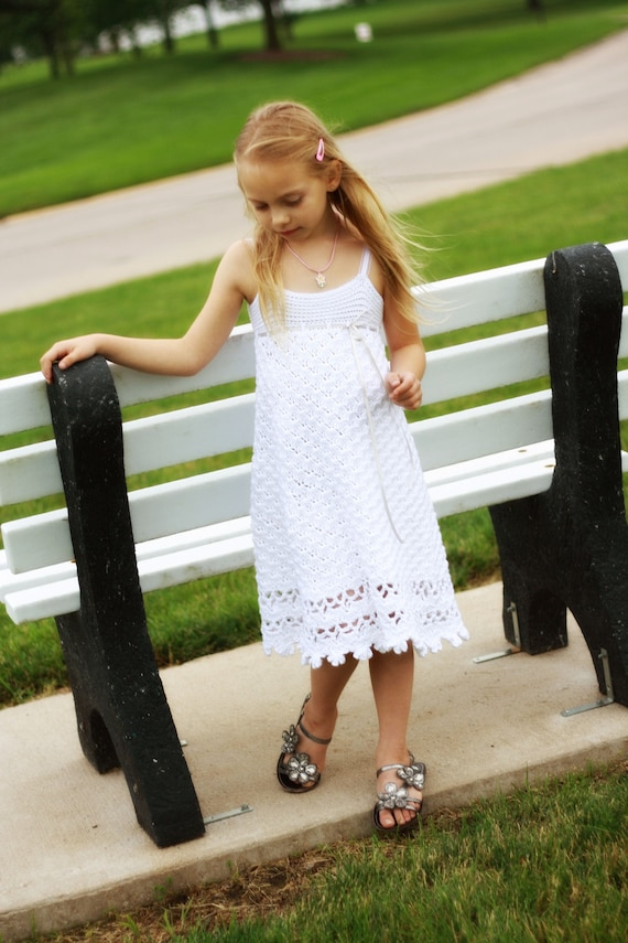 Olivia's Maxi Dress Crochet Pattern girls size
