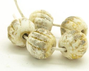 Handmade lampwork beads. Make to Order Beads. Melon Beads. Ivory Beads. Glass beads. SRA