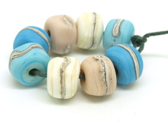 Nugget bead set in beach colours.
