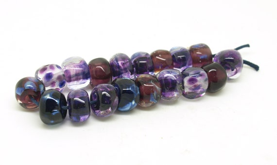 Jewel Toned Bead set in Violet, Blue and Amethyst
