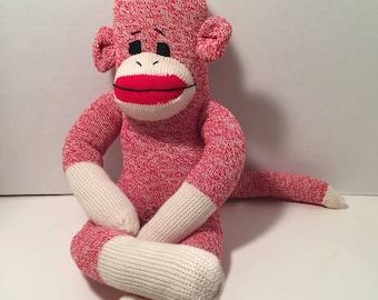 Red Heel Sock Monkey Red Scarlet