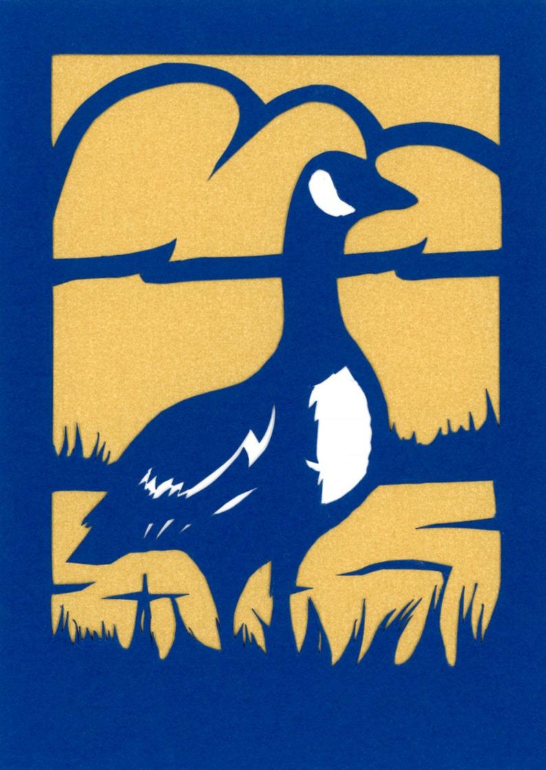 Canada Goose 5x7 Handcut Scherenschnitte Papercut Bird image 0