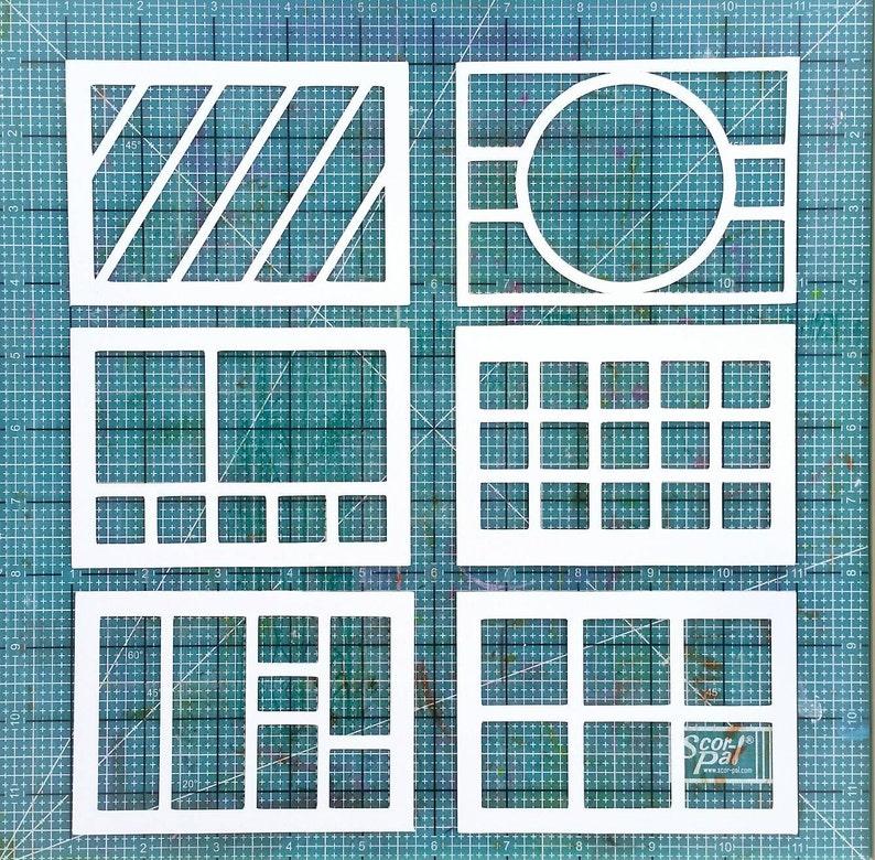 5x7 scrapbooking or cardmaking layout cutting files image 0