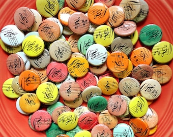 Free Shipping- An Autumn Wedding  - Wedding Favors - 100 One of a Kind Handmade 1 Inch Pinback Buttons