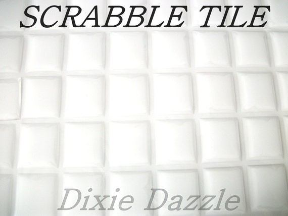 20mm x 18mm 20 x Clear Resin Epoxy Drop Stickers for Scrabble Tile