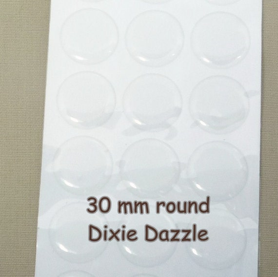 compacts Circle Epoxy Resin Stickers mirrors belt supplies 100 30mm Large clear epoxy seals for badges