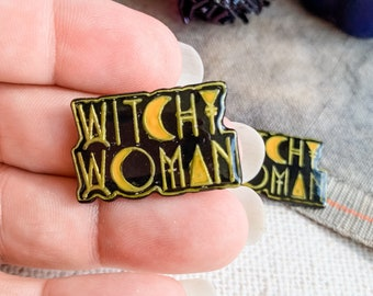 New Release! Witchy Woman Magnetic Needle Minder | Handmade Cross Stitch Accessory | Scissor Fob | Floss Ring | Zipper Pull | Thread Keep