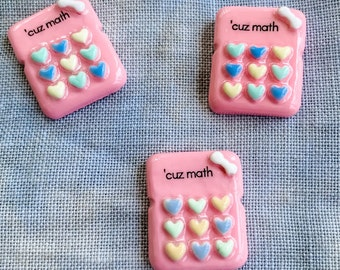 PRE-ORDER The Official ''Cuz Math' Needle Minder for the Just Keep Stitchin' Flosstube Channel | Floss Ring | Scissor Fob | Zipper Pull