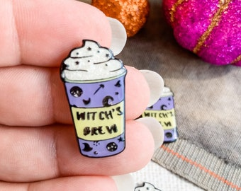 New Release! Witch's Brew Magnetic Needle Minder | Handmade Cross Stitch Accessory | Scissor Fob | Floss Ring | Zipper Pull | Thread Keep