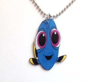 Becky Inspired Charm Necklace or Keychain Finding Dory