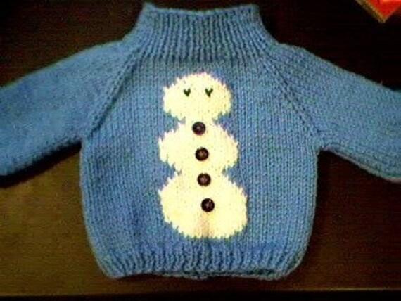 Hanukkah Jewish Dreidel Sweater Handmade for 15 inch Bitty Baby Doll Made in USA
