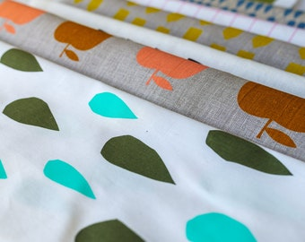 Handmade using Organic Screen Printed Spin Spin Fabric Quilt #5