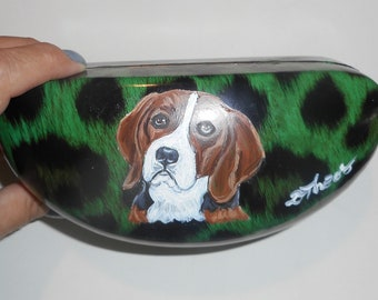 Blue Glasses Case Beagle Dog Print Cute Beagles Sunglasses Specs Box Dogs New