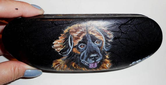 Weimaraner Dog Portrait Eyeglass Glasses Case Vegan Hand Painted