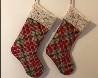 Rustic Custom Christmas Stockings